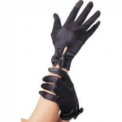 Handschuhe mit Schleife in Schwarz kaufen