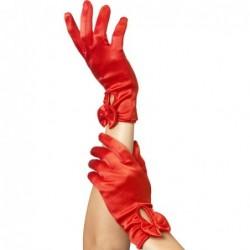 Handschuhe mit Schleife in Rot kaufen