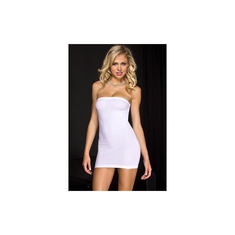 Trägerloses Kleid - Weiß