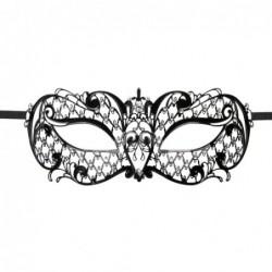 Venezianische Maske aus Metall in Schwarz - EasyToys kaufen