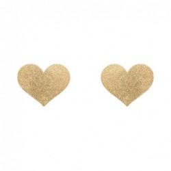 Flash herzförmiger Nippelaufkleber - golden kaufen