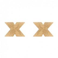 Flash Kreuz Nippelaufkleber - golden kaufen