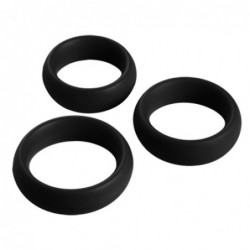 3 Piece Silicone Cock Ring Set kaufen