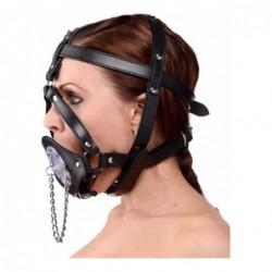 Kopf-Harness aus Leder mit Knebel kaufen