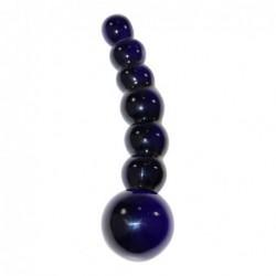Kugelförmiger Dildo aus Glas Icicles No 66 in Schwarz kaufen