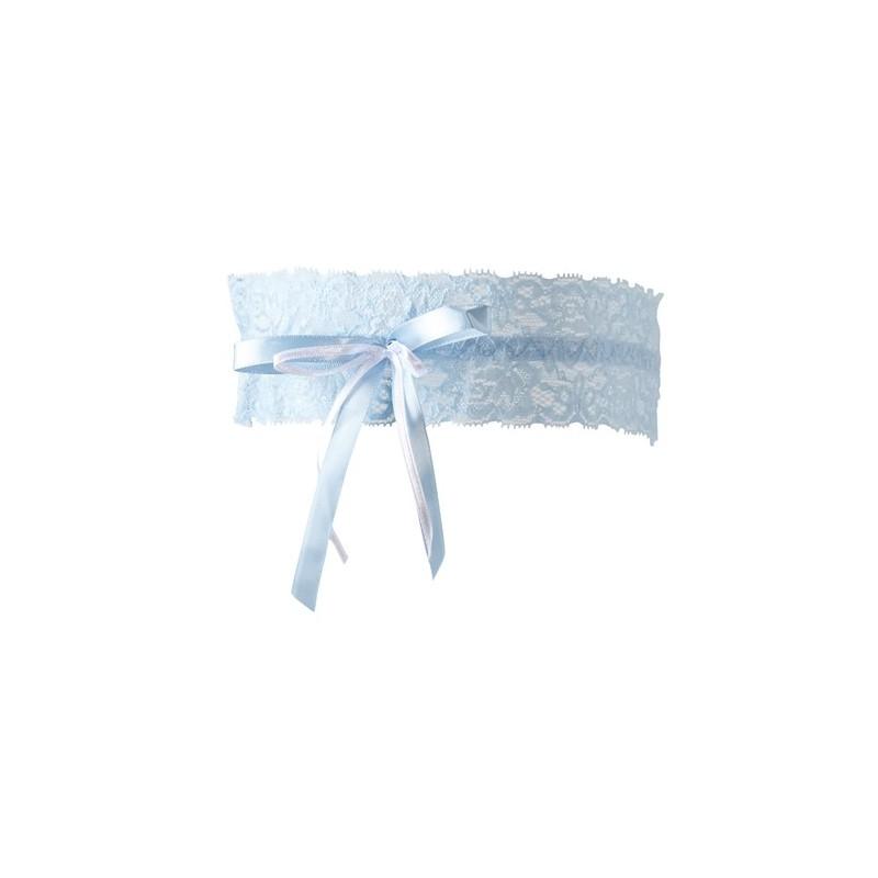 Strumpfband blau S-L