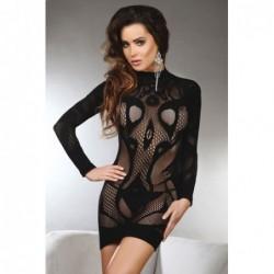 Sexy offenes Kleidchen Elianna in Schwarz kaufen