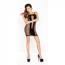 Transparentes Kleidchen in Schwarz mit offenen Seiten kaufen