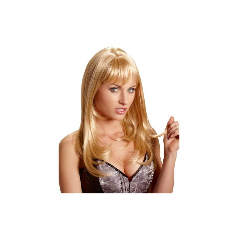 Erotische Vamp Perücke (blond) Bild 1